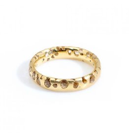 Constellation Ring with White Sapphires in 18k Yellow Gold