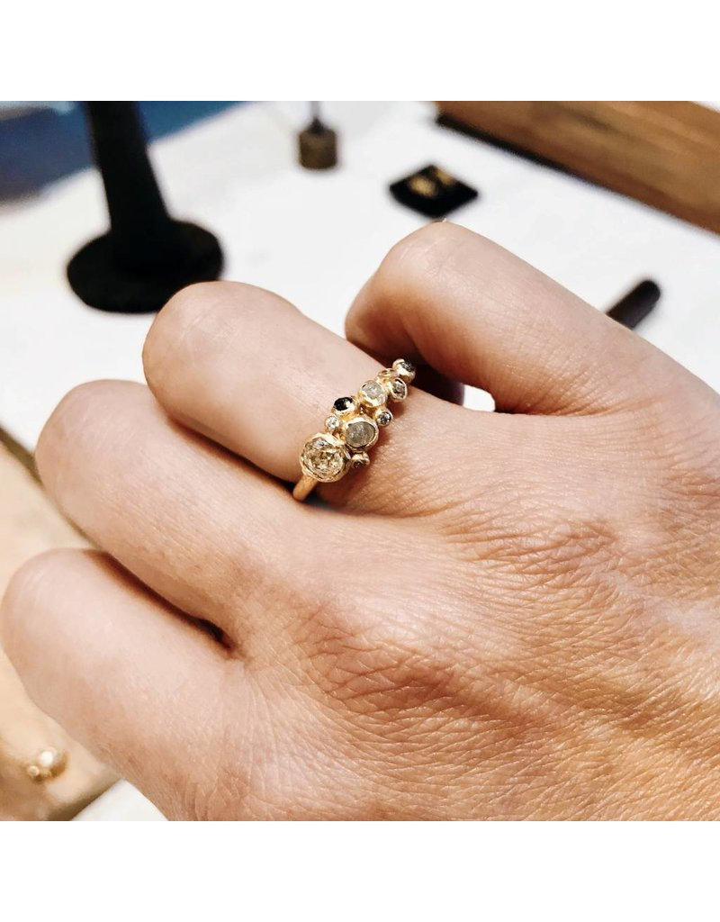 Diamond Cluster Ring with Antique Round Diamond
