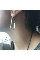 Sand Drop Earrings in Silver