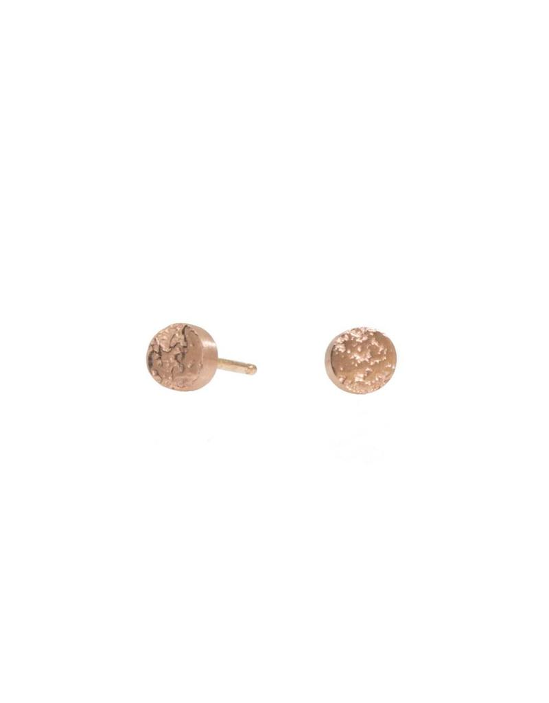 Smashed Sand Post Earrings in 14k Rose Gold
