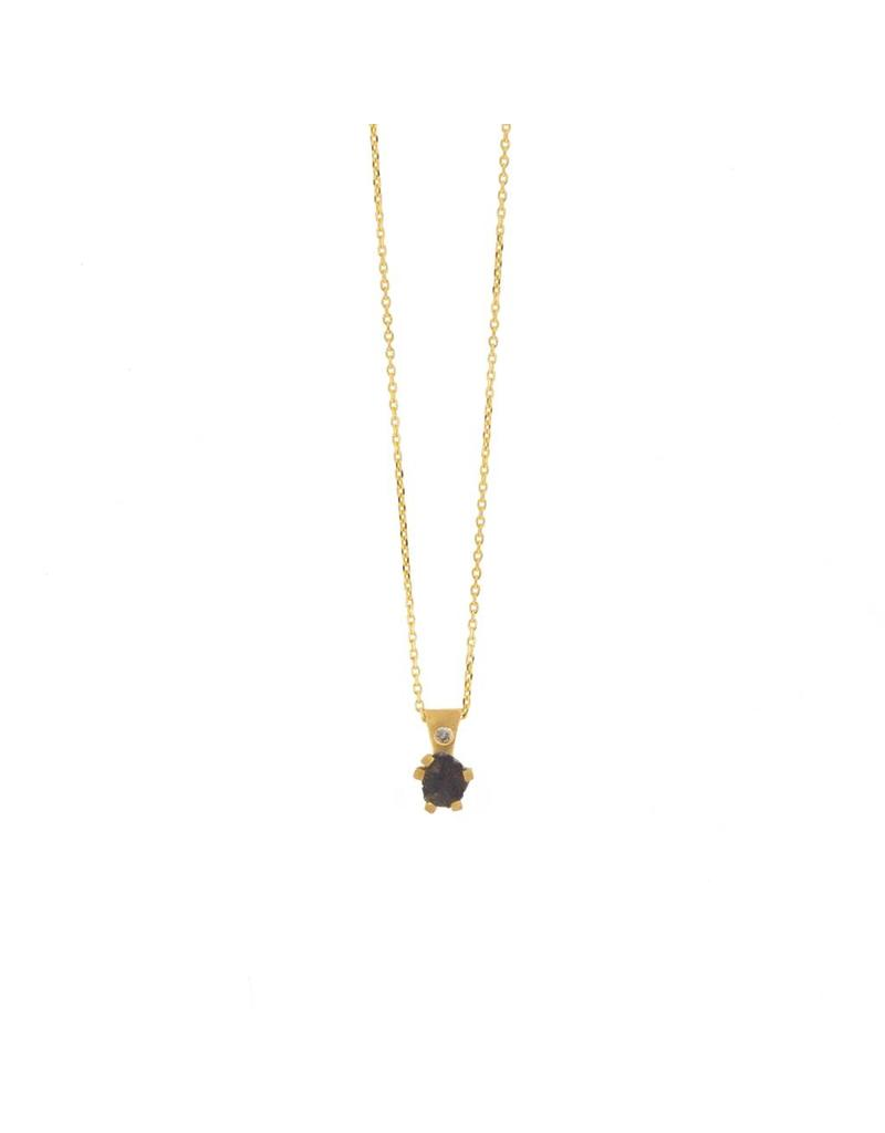 Nail Head Pendant in 18k Yellow Gold