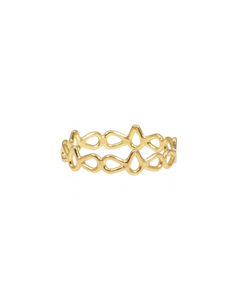 Tura Sugden Lace Ring in 18k Yellow Gold