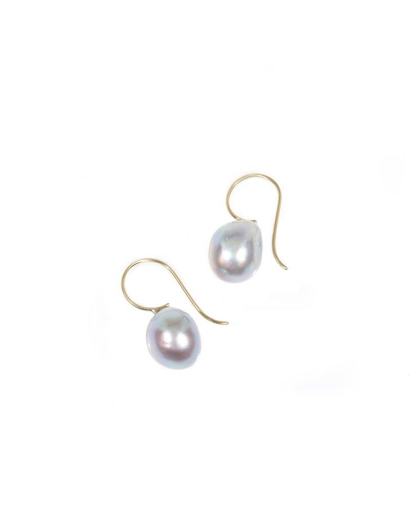 Silver Baroque Pearl Earrings