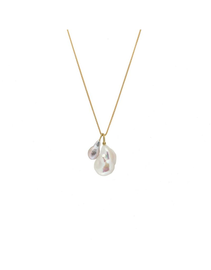 Small Teardrop Pearl Pendant with 18k Gold Bail