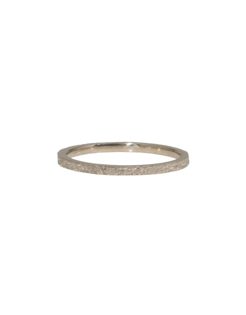 Slim Sand Band in 14k Palladium White Gold
