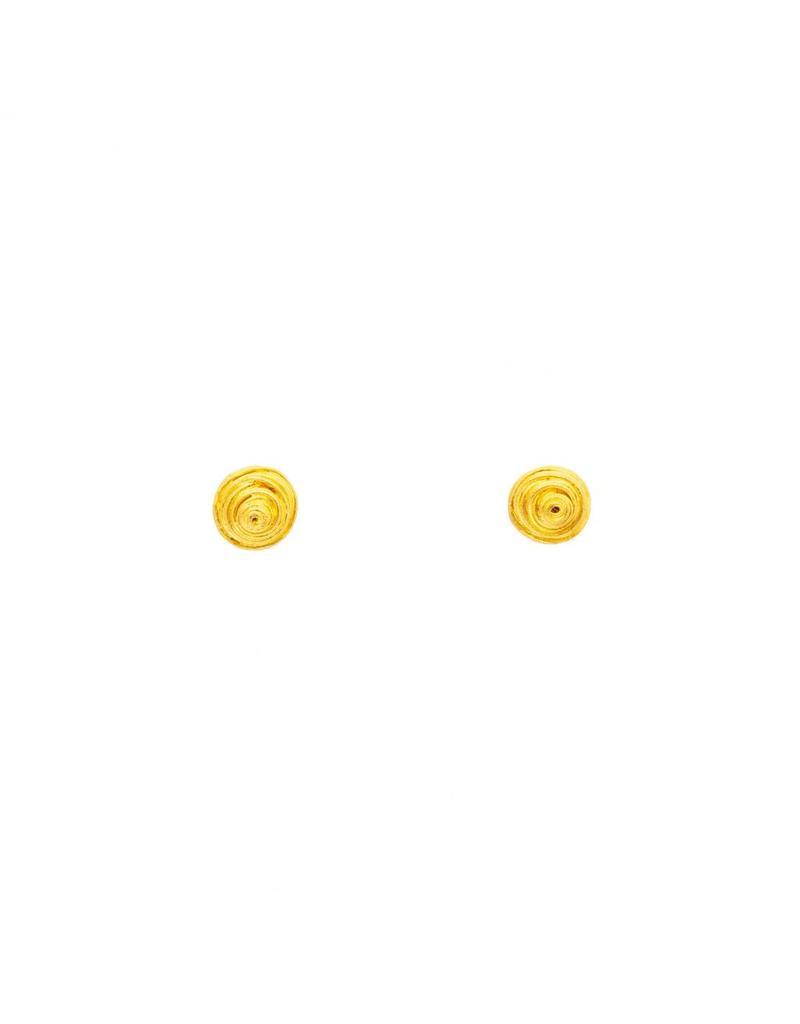 Gold Wire Wrap Post Earrings