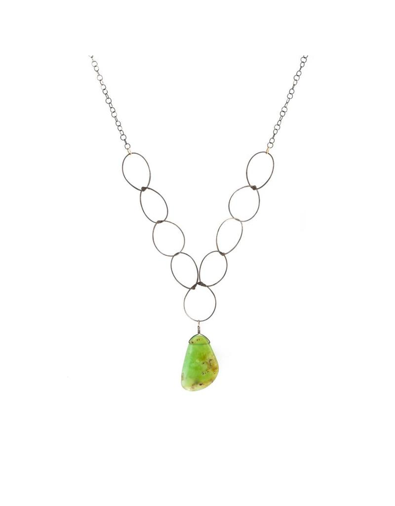 Necklace with Chrysoprase in Silver