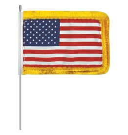 USA Aerial Flag with Fringe