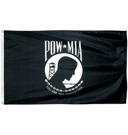 POW*MIA Single Sided Polyester Flag