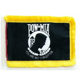 POW*MIA Cotton Aerial Flag with Fringe