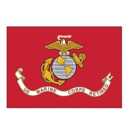 USMC Retired Endura-Polyester Flag