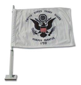 Coast Guard Auto Window Flag