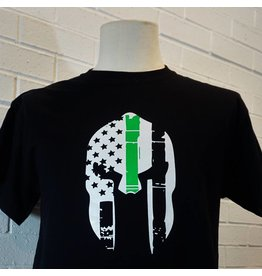 Thin Green Line Spartan Helmet T-Shirt