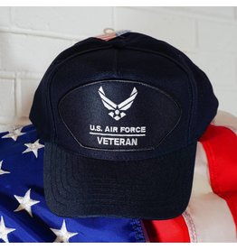 Air Force Veteran w/ AF Logo (Nvy Blue w/ White Ltrs)