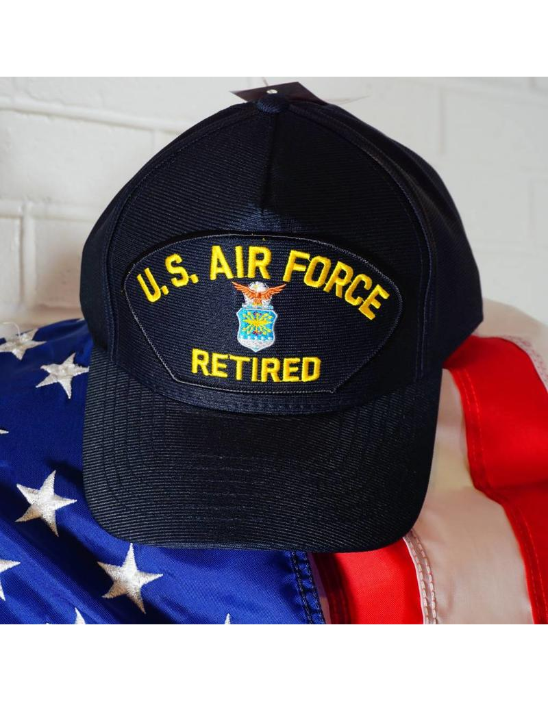 Air Force Retired (Blue w/yellow ltrs) Baseball Cap