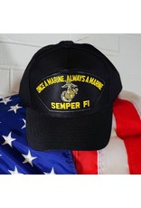 Marine Once a Marine, Always a Marine Semper Fi Emblematic Baseball Cap