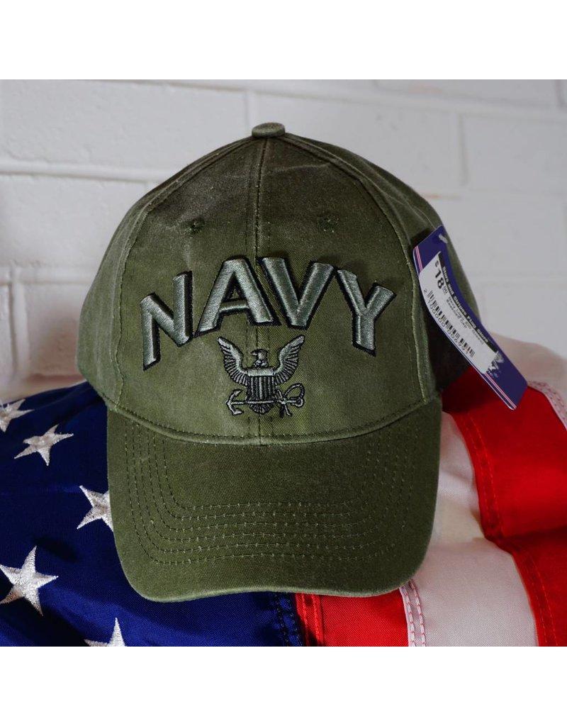 Navy Logo (OD Green) Baseball Cap