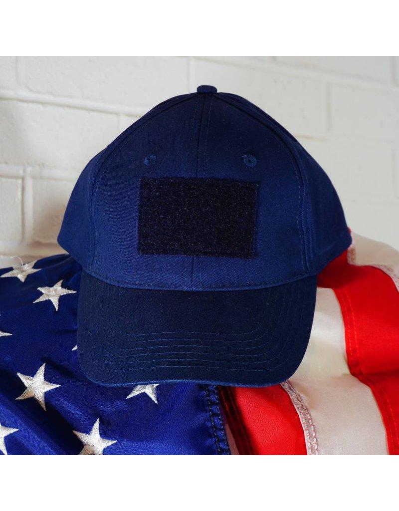 Hook and Loop (Navy Blue) Blank Baseball Cap