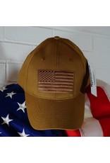 US Flag Baseball Cap (Coyote Brown)