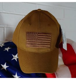 US Flag Baseball Cap (Coyote Brown)
