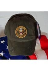 Army Crest Ball Cap (OD Green)