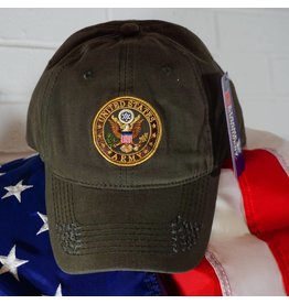 Army Crest Ball Cap (OD Green)