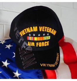 Air Force Vietnam Veteran (Black w/yellow letters) Baseball Cap (VHV)