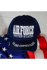Air Force Baseball Cap Blue w/white letters (Eagle on back) (VHV)