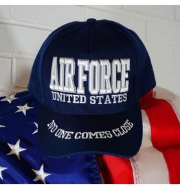 Air Force Baseball Cap Blue w/white letters (Eagle on back) (VHV)