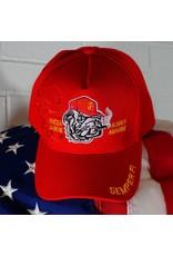 Marine Corps (Red w/Bull Dog Logo) Baseball Cap (VHV)
