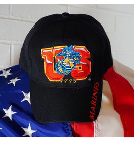 USMC 1775 (Black w/gold ltrs) Baseball Cap (VHV)