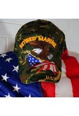 Marine Corps Retired (Camoflauge w/Eagle and Flag) Baseball Cap (VHV)