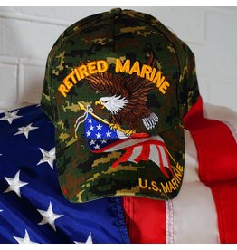 Marine Corps Retired (Camoflauge w/Eagle and Flag) Baseball Cap (VHV)