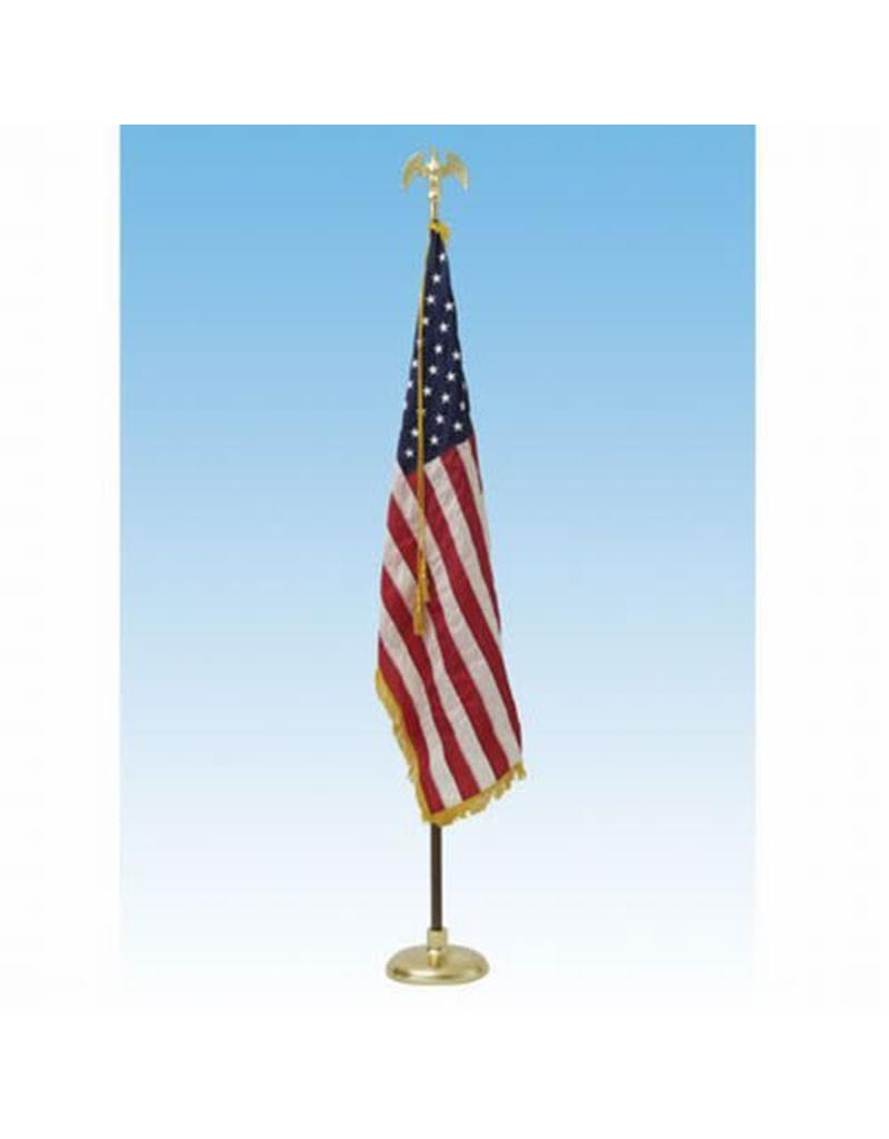 Deluxe Crown US Flag Presentation Set 8' pole w/ 3x5 Flag