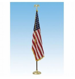 Deluxe Crown US Flag Presentation Sets 7' pole w/ 3x5' flag