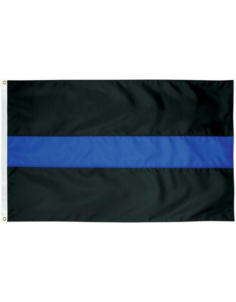Thin Blue Line Nylon Flag
