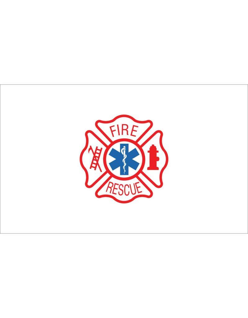 Fire Rescue 3x5' Nylon Flag