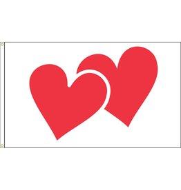 Valentine Hearts 3x5' Nylon Flag