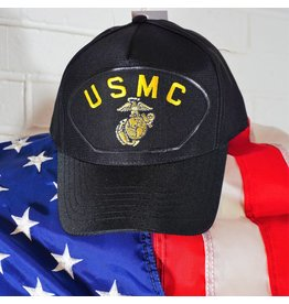 Black w/yellow letters (USMC) Marine Corps Baseball Cap