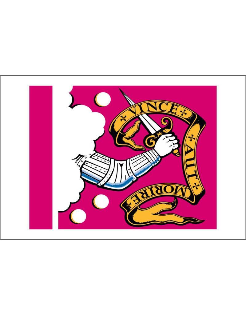 "Bedford Historical Nylon Flag 3x3 2/3"""