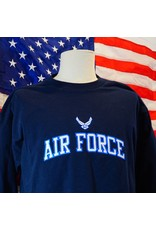 Airforce Embroidered Long Sleeve Shirt