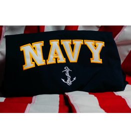 Navy Embroidered T-shirt