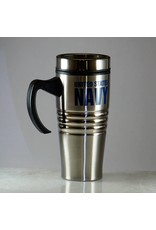 Navy Stainless Steel 16oz Travel Mug