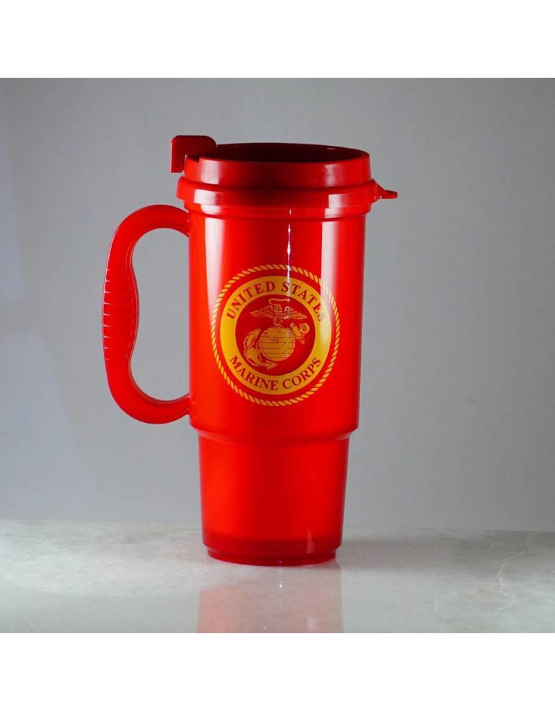 Marine Corps Plastic Travel Mug