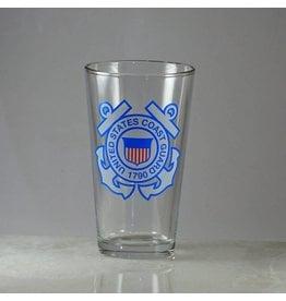 Coast Guard 16 oz Glass