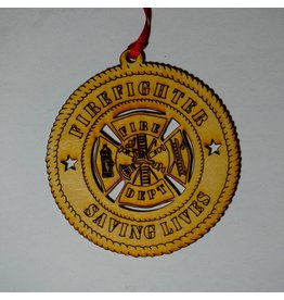 Wilkes Firefighter Saving Lives Ornament