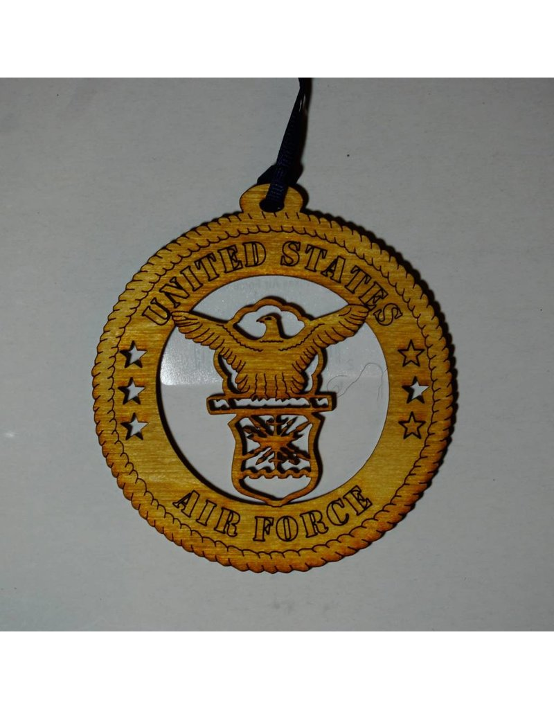 Air Force Wooden Ornament