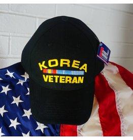 Korea Veteran Baseball Cap (Black)