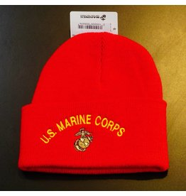 Marine Corps (Red w/yellow letters) Watch Cap