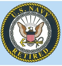 Navy Retired Decal